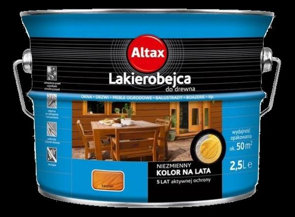 Altax Lakierobejca Drewna 2,5L KASZTAN niebieska