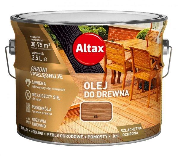 Altax olej do drewna 2,5L TIK TEK TEAK
