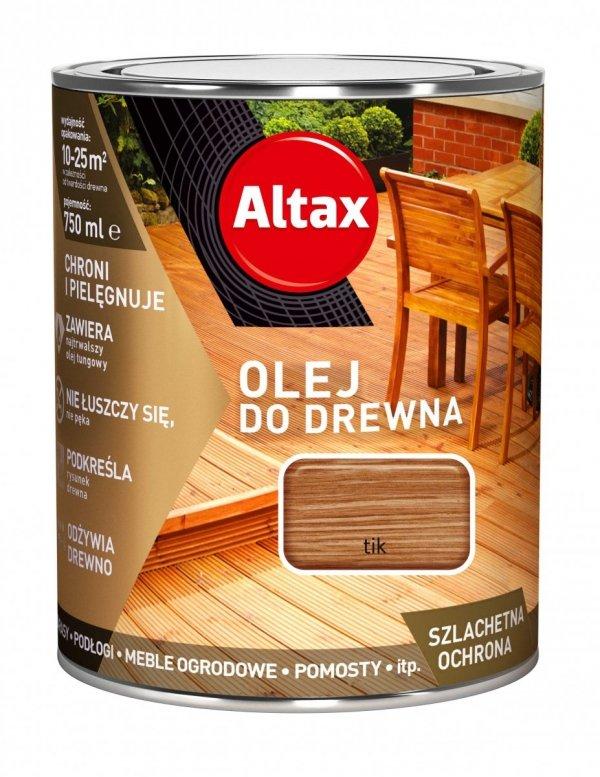 Altax olej do drewna 0,75L TIK TEK TEAK