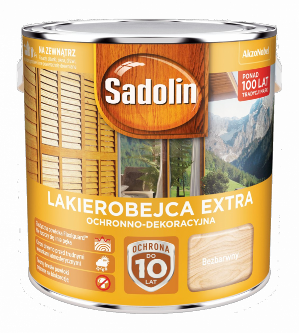 Sadolin Extra lakierobejca 2,5L BEZBARWNY 1 drewna