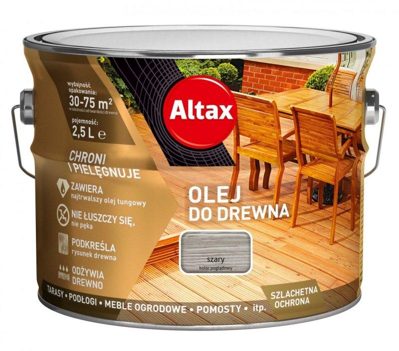 Altax olej do drewna 2,5L SZARY tarasów