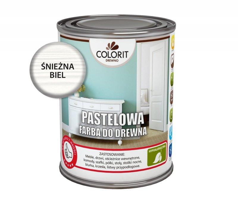 Colorit Pastelowa Drewna 750ml ŚNIEŻNA BIEL 0,75L akrylowa emalia do farba