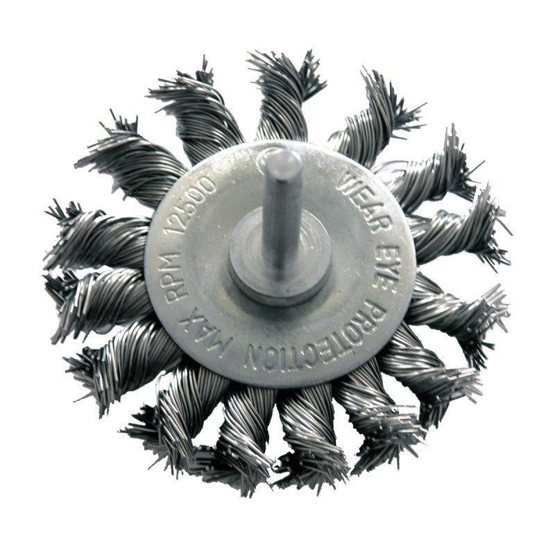 Szczotka druciana tarczowa śr. 75mm drut skręcany trzpień 32447 PROLINE