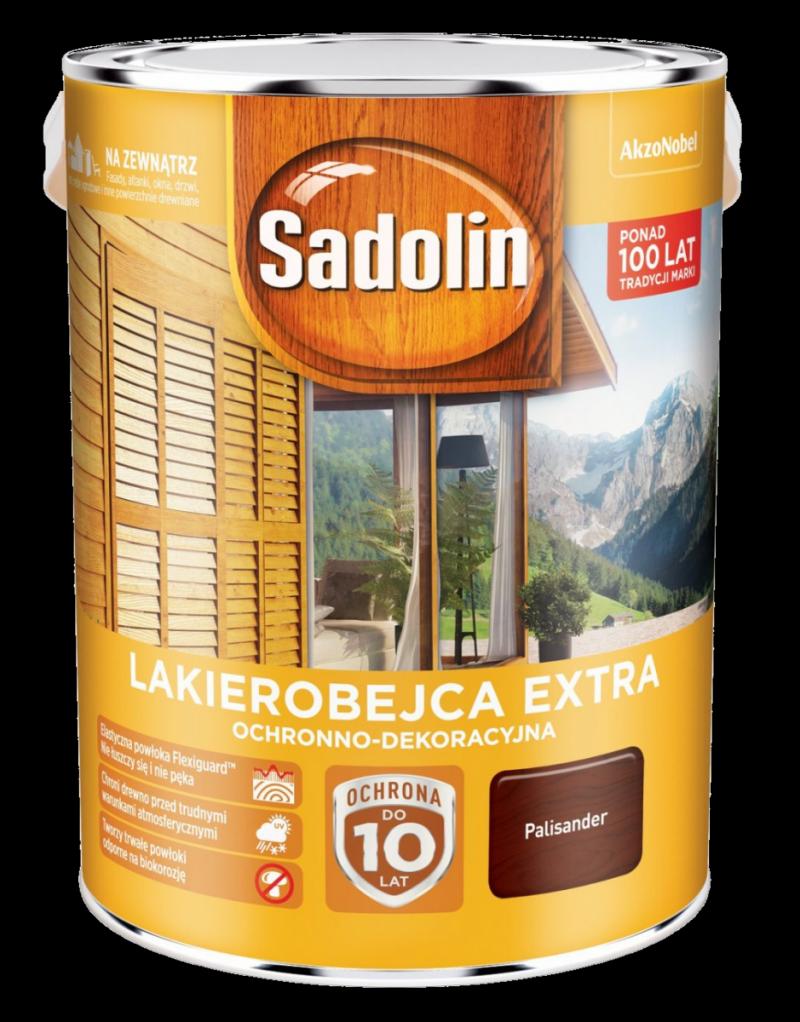 Sadolin Extra lakierobejca 10L PALISANDER 9 drewna