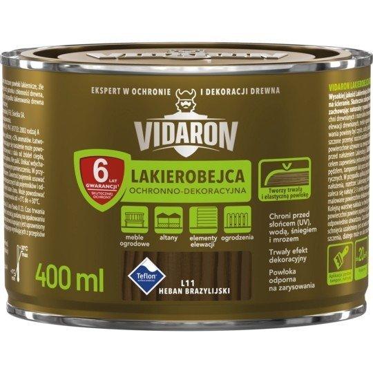 Vidaron Lakierobejca 0,4L L11 Heban Brazylijski do drewna