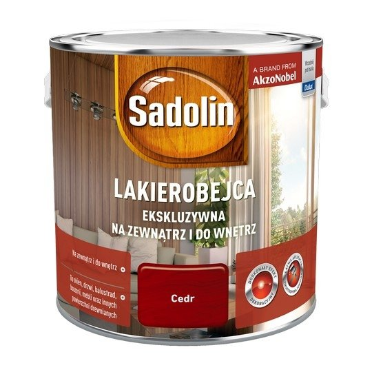 Sadolin Ekskluzywna lakierobejca 2,5L CEDR drewna