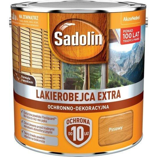 Sadolin Extra lakierobejca 2,5L PINIOWY PINIA 2 drewna