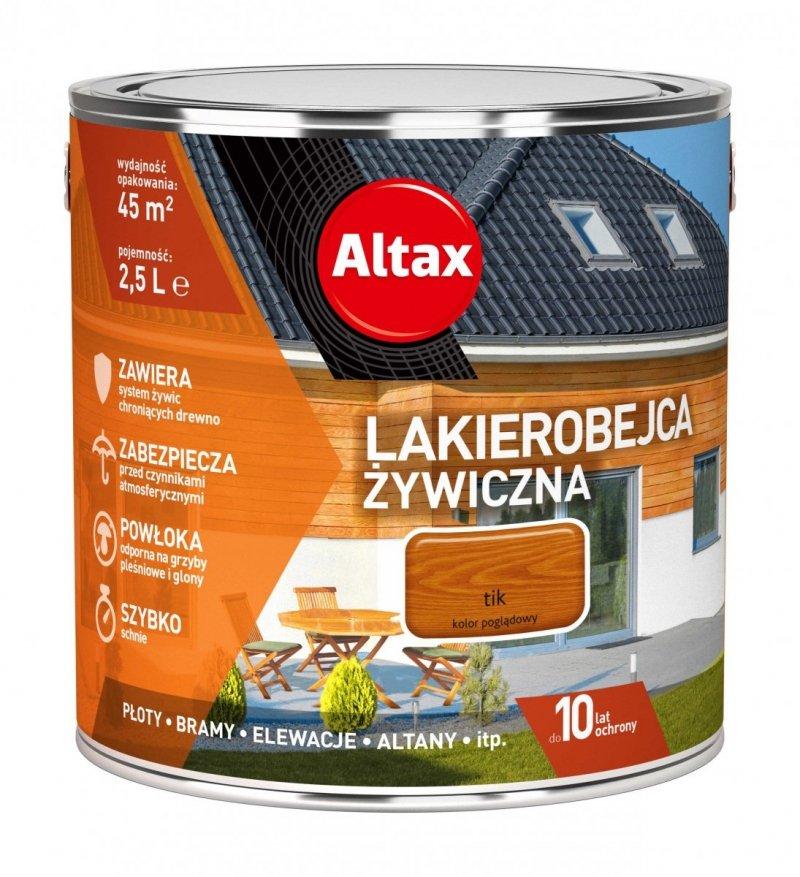 Altax Lakierobejca 2,5L TIK Żywiczna Drewna Szybkoschnąca