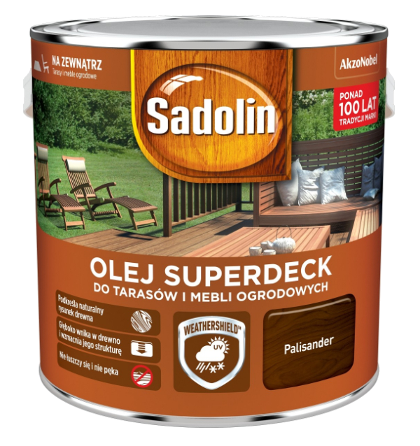 Sadolin Superdeck olej 5L PALISANDER 95 tarasów drewna do