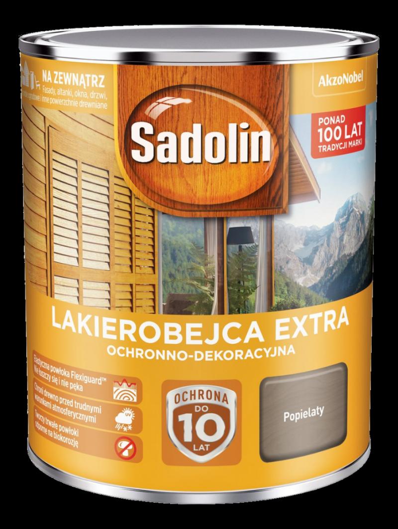 Sadolin Extra lakierobejca 0,75L POPIELATY drewna