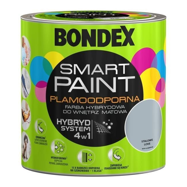 Bondex Smart Paint 2,5L STALOWE LOVE