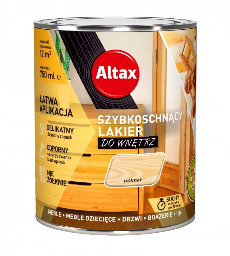 Altax lakier szybkoschnący drewna PÓŁMAT 0,75L bezbarwny do wnętrz