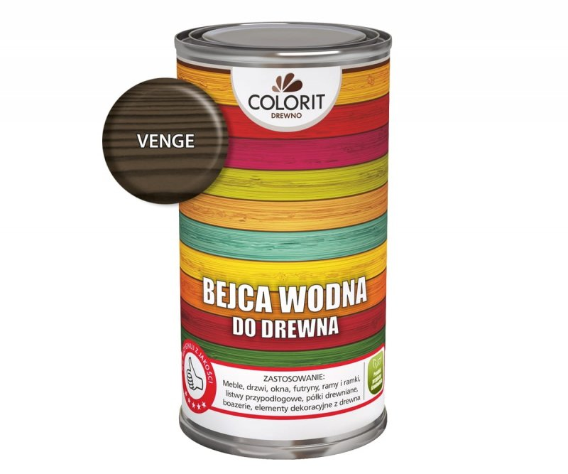 Colorit Bejca Wodna Do Drewna 0,5L VENGE WENGE 500ml do