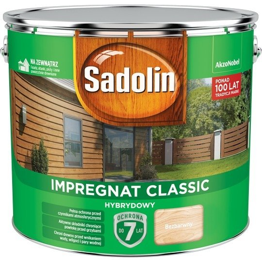 Sadolin Classic impregnat 9L BEZBARWNY 1 drewna clasic