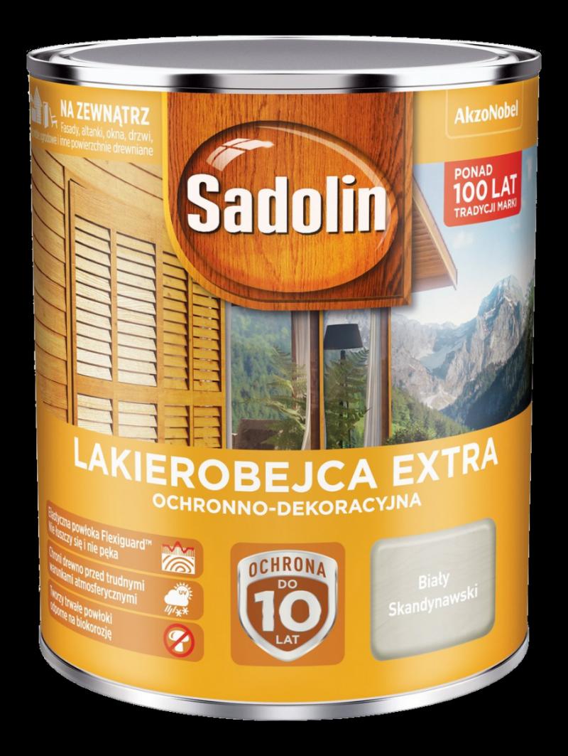 Sadolin Extra lakierobejca 0,75L BIAŁY SKANDYNAWSKI drewna