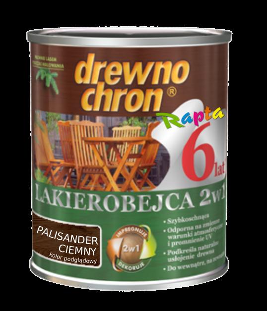 Drewnochron 2w1 Lakierobejca PALISANDER CIEMNY 0,8L drewna do