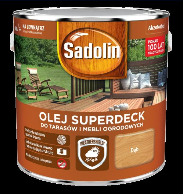 Sadolin Superdeck olej 10L DĄB tarasów drewna do