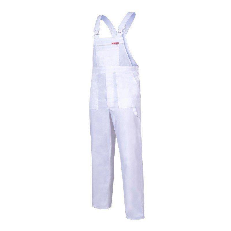 640f44d6d774c3 LAHTI PRO Spodnie robocze ogrodniczki ochronne 3XL mocne wytrzymałe BIAŁE  malarskie