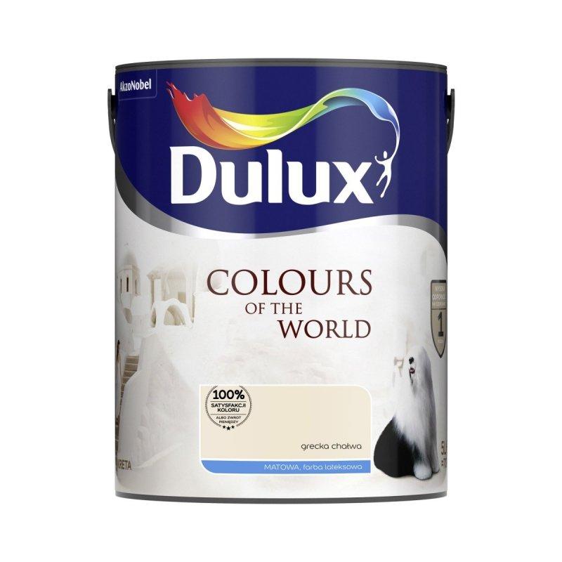 Dulux Kolory Świata 5L Grecka Chałwa farba matowa lateksowa do ścian i sufitów