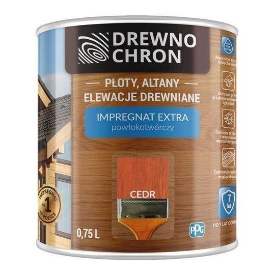 Drewnochron CEDR 0,75L Impregnat Extra drewna do powłokotwórczy