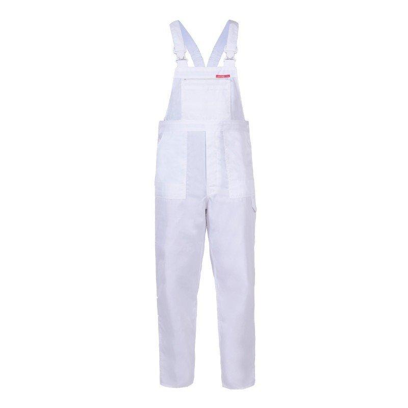 LAHTI PRO Spodnie robocze ogrodniczki ochronne 3XL mocne wytrzymałe BIAŁE malarskie #