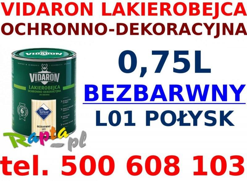 Vidaron Lakierobejca 0,75L L01 Bezbarwny do drewna