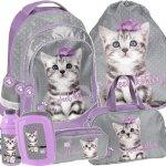 Plecak z Kotkiem Kot Szkolny dla Dziewczynki Zestaw [PTC-181]