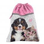 Worek Pies i Kot na Gimnastykę Obuwie Buty dla Dziewczyny