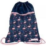 Flamingi Duży Worek dla Dziewczyny Młodzieżowy na Buty Kapcie 2 Komorowy [PPNG20-713]