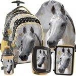 Plecak na Kołach Szkolny Koń Złoty Zestaw [PP19H-997]