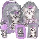 Plecak dla Dziewczyny Szkolny Zestaw z Kotem Kotek [PTC-181]