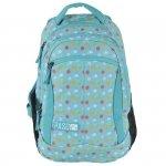 Plecak Młodzieżowy dla Dziewczyny Szkolny Niebieski w Kropki [17-2808UB]