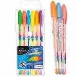 Długopisy Żelowe Fluorescencyjne 6 Kolorów Kidea [DZF6KA]