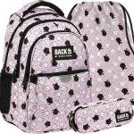 Modny Plecak Backup dla Dziewczyny Szkolny w Kotki Koty [PLB3P35]