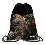 Duży Worek jak Plecak dla Dziewczyny na Buty Kapcie 2-Komorowy Kwiaty [PPRS20-713]