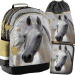 Koń na Plecaku dla Dziewczyny Zestaw Konie Szkolny [PP19H-116]