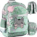 Kotek Miętowy Plecak Szkolny dla Dziewczyny Paso [PP21CA-116]