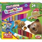 Bambino Plastelina 24 Kolorów Złota Srebrna + Podkładka [001901]