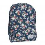 Plecak Vintage dla Dziewczyny Młodzieżowy Szkolny Kwiaty