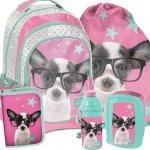 Plecak Szkolny Duży Komplet Piesek dla Dziewczynki [PTD-181]