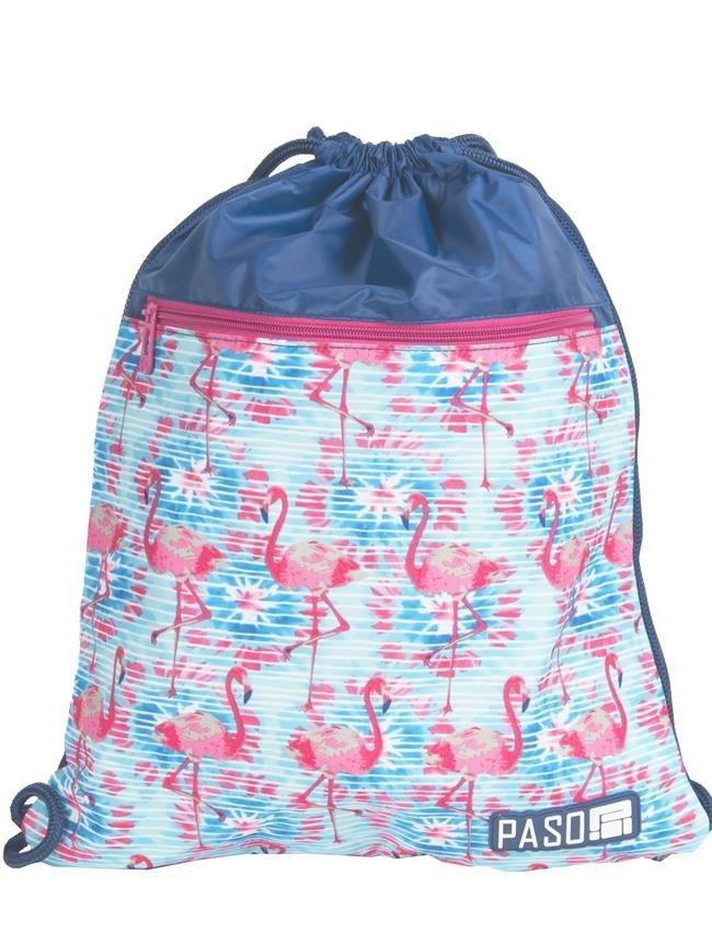 8797bfbe0e36b Worek Szkolny Młodzieżowy na Obuwie Flamingi iplecaki.pl