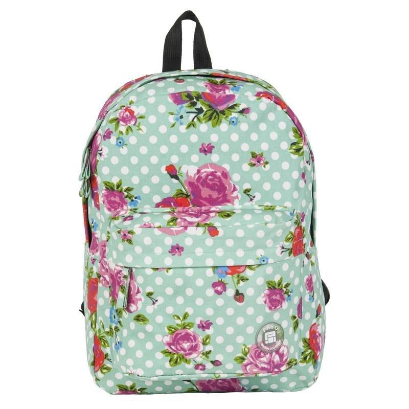 504186b5c00fa Plecak Vintage w Róże Młodzieżowy Szkolny Kwiaty dla Dziewczyny 17-780M