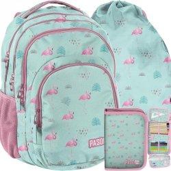 Duży Plecak Młodzieżowy Flamingi dla Dziewczyny [PPLF19-2706]