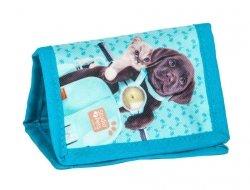Portfel z Pieskiem Kotkiem Dziecięcy Portfelik dla Dziewczynki PEF-002