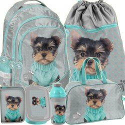 Plecak Szkolny York Piesek Komplet dla Dziewczyny [PTH-181]