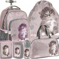 Szkolny Plecak na Kółkach Kot Kotek dla Dziewczyny [RLD-887]