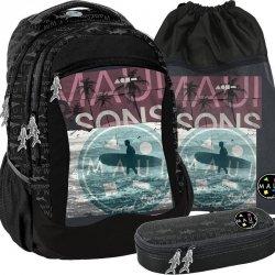 Plecak Młodzieżowy Szkolny Surfer z Deską Surfing [MAUI-2808]