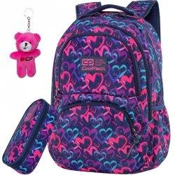 Serca CoolPack Plecak CP dla Dziewczyny Dart DRAWING HEARTS BLUE [C19141]