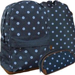 Plecak w Kropki dla Dziewczyny Młodzieżowy Komplet Beniamin [607801]
