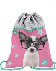 Worek z Pieskiem w Okularach dla Dziewczynki na Obuwie Buty [PTD-713]